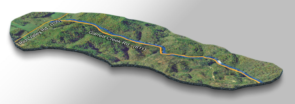 Map-Garrett Creek Falls-3D