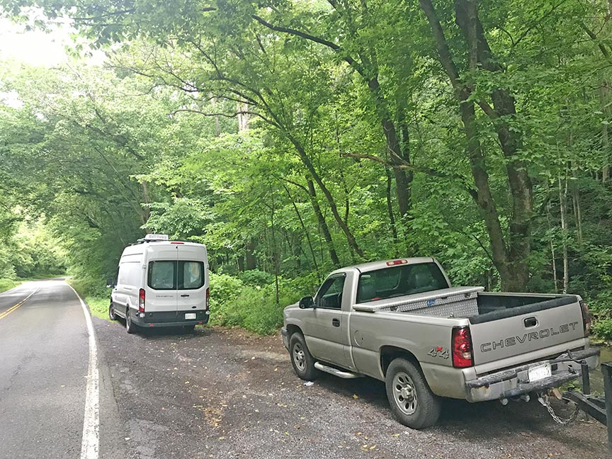 Logan Creek Falls Parking