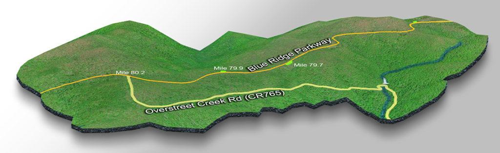 Map-Overstreet Falls-3D