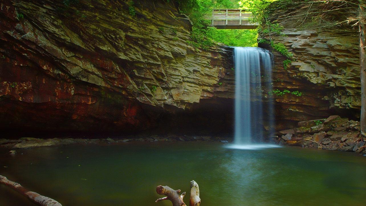 Upper Waterfall of Little Stony