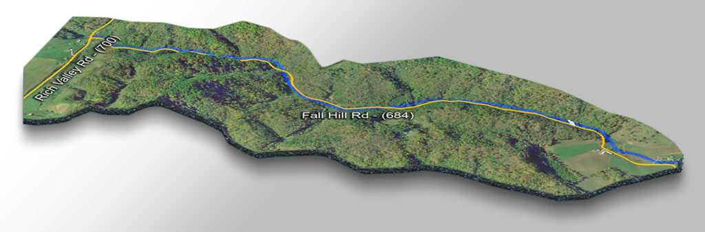Trail Map-Falls on Cabin Creek