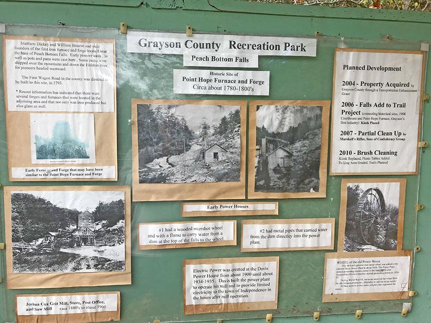 Powerhouse Falls Sign