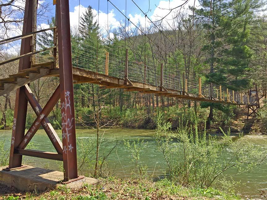 Chambers Ridge Falls - Swing Bridge