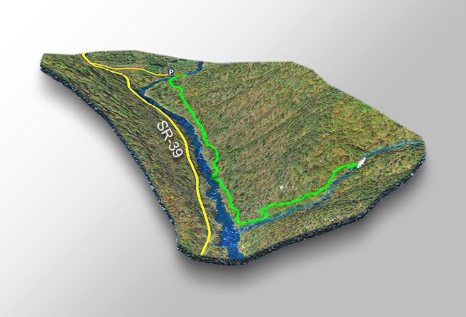 Trail Map-Chambers Ridge Falls