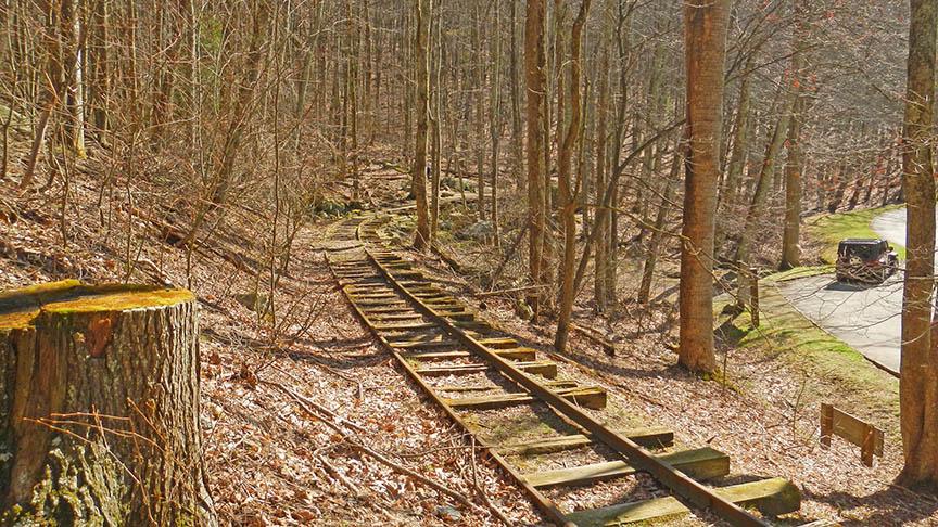 Wigwam Falls railroad track