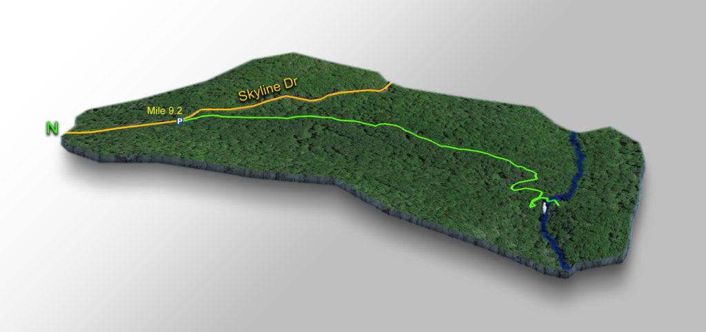 Trail Map - Lands Run Falls