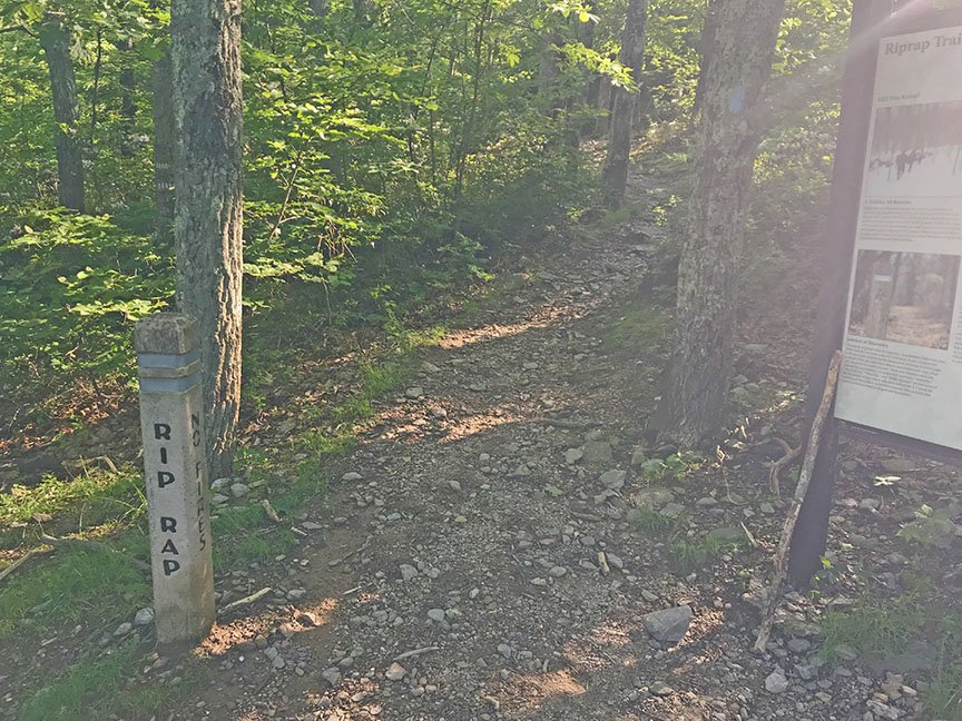 Riprap Trail Sign