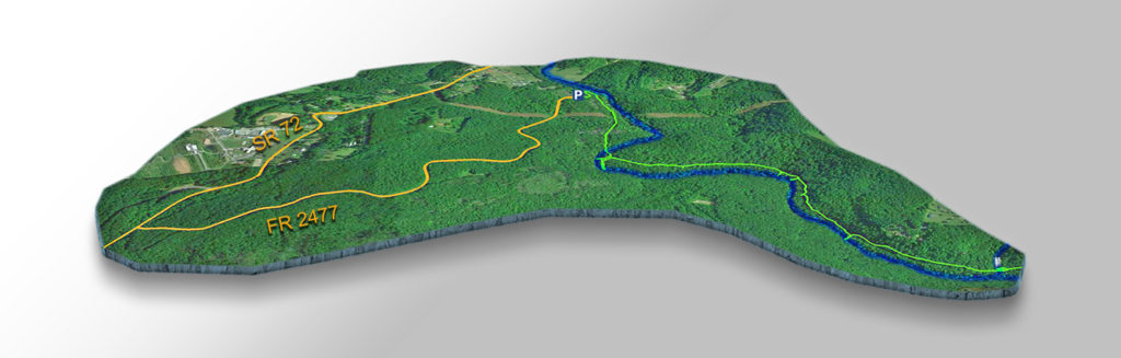 Trail Map - Crab Orchard Branch Falls