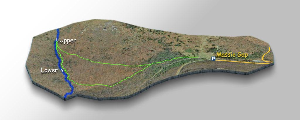 Trail Map-Lower Cabin Creek Falls