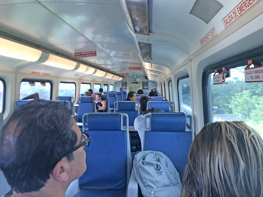 Inside a Tri-Rail Train