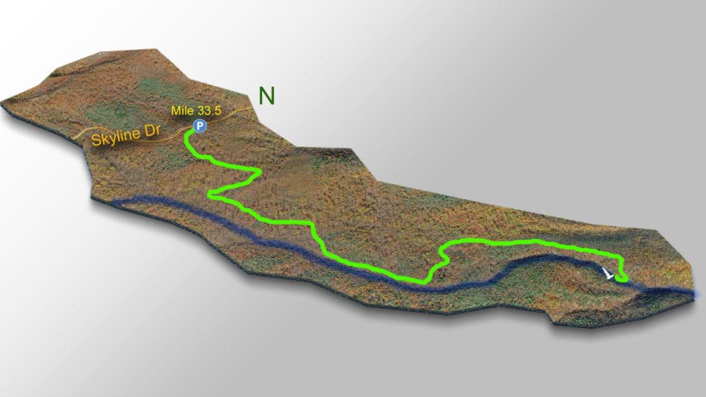 Hazel Falls Trail Map