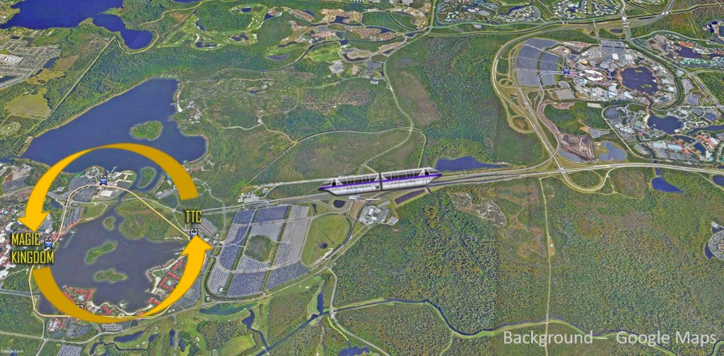 Disney World Express Monorail Map