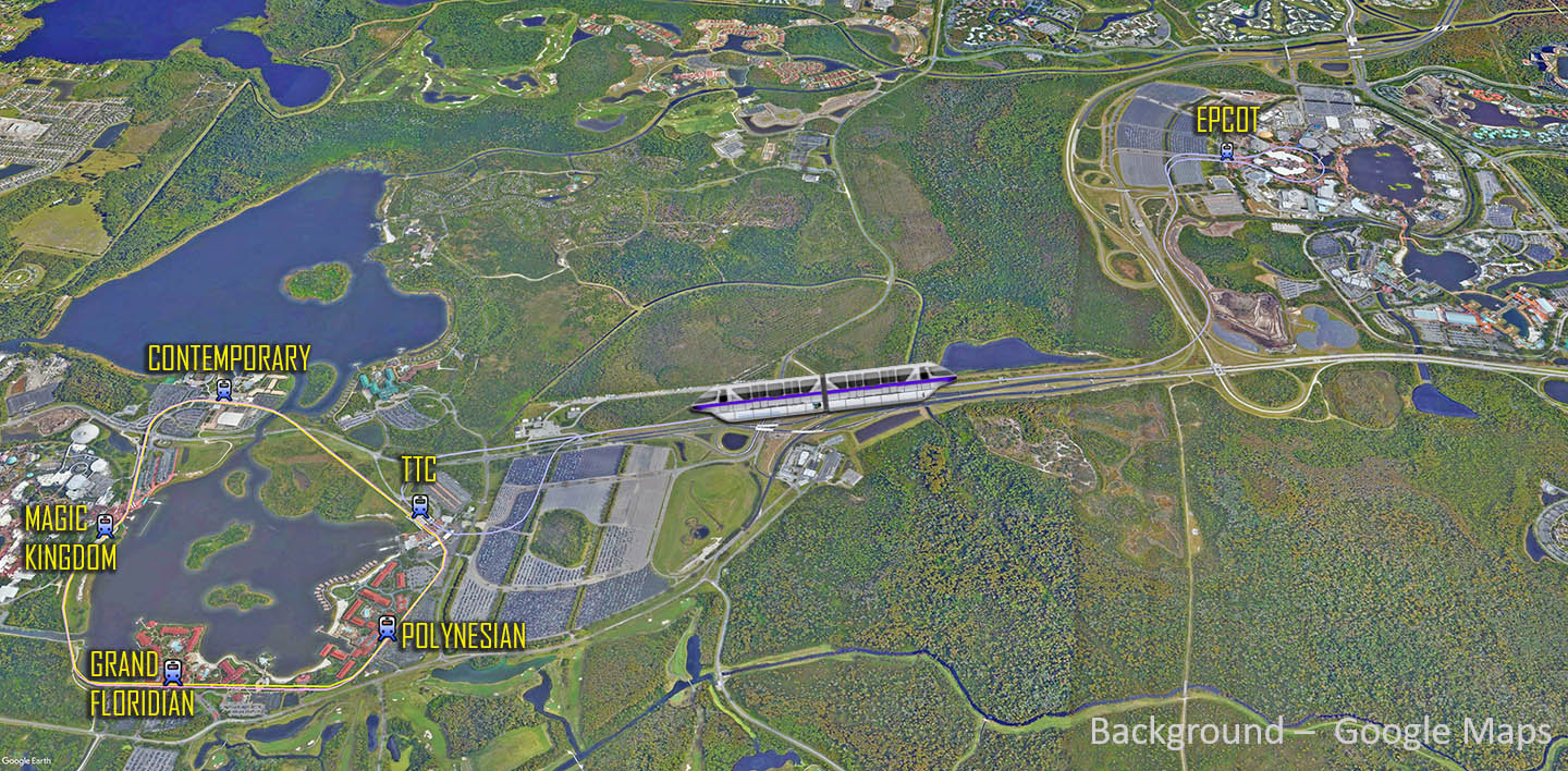 Disney World Monorail Map