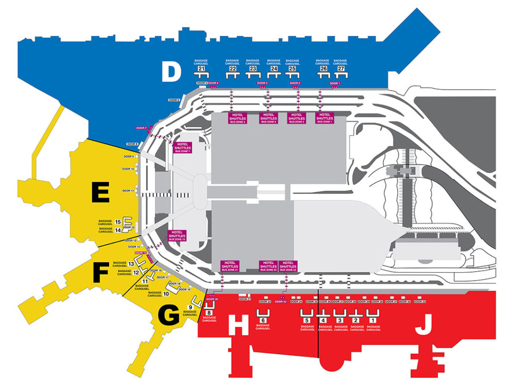 Miami Airport Hotel Shuttles Map