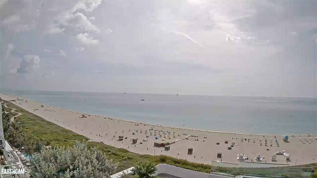 Earthcam view of Miami Beach