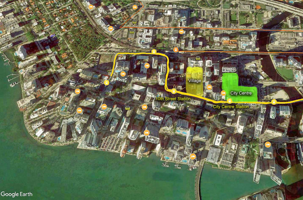 Map-Brickell Shops in Miami