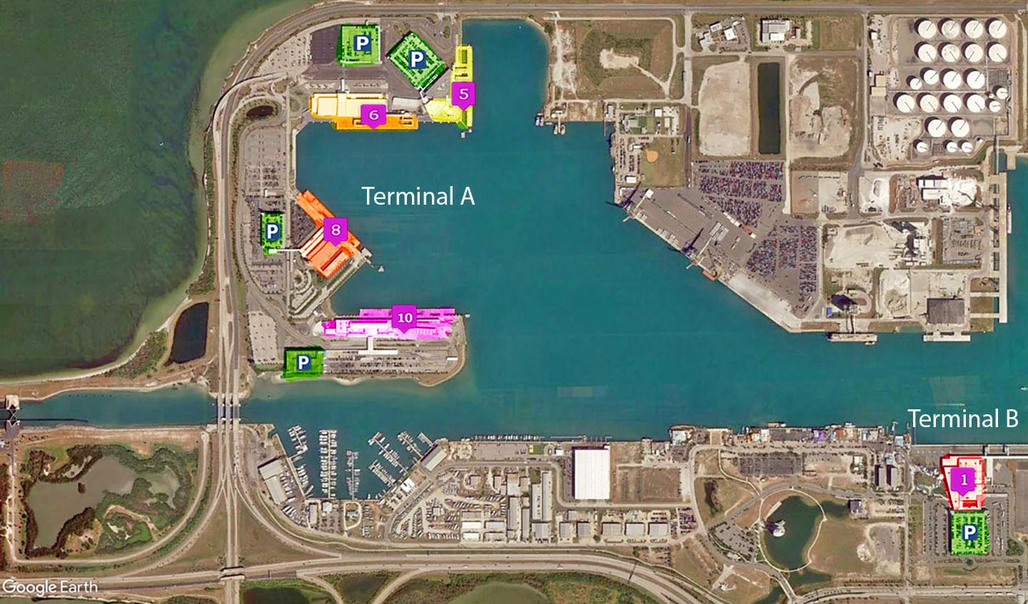 map port canaveral cruise terminal Where Is My Ship Docked At Port Canaveral In Cape Canaveral map port canaveral cruise terminal