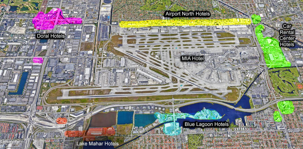 Miami Airport Hotel Map