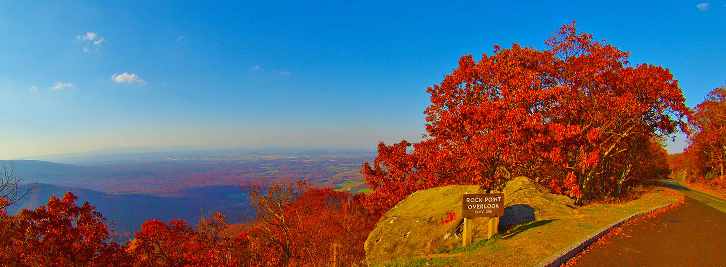 Rock Point Overlook on the Blue Ridge Parkway