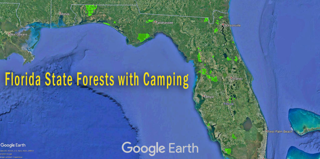 Florida State Forests Map