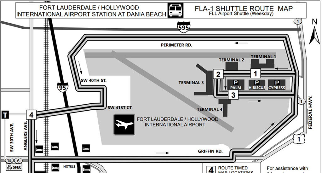 fort lauderdale airport fll to miami airport mia - tri