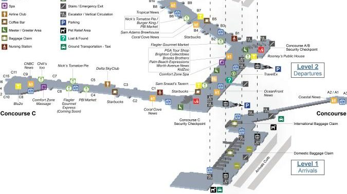 miami airport layout